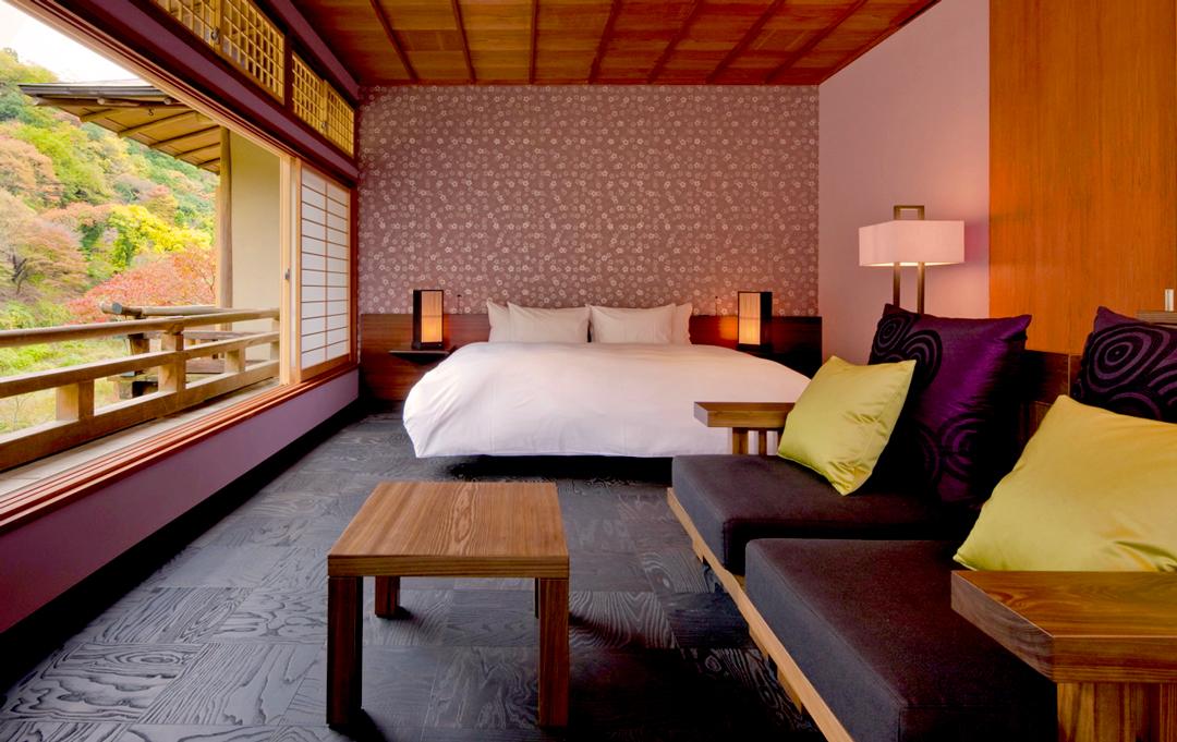 L'hôtel Hoshinoya à Kyoto où séjourne Jessica Alba