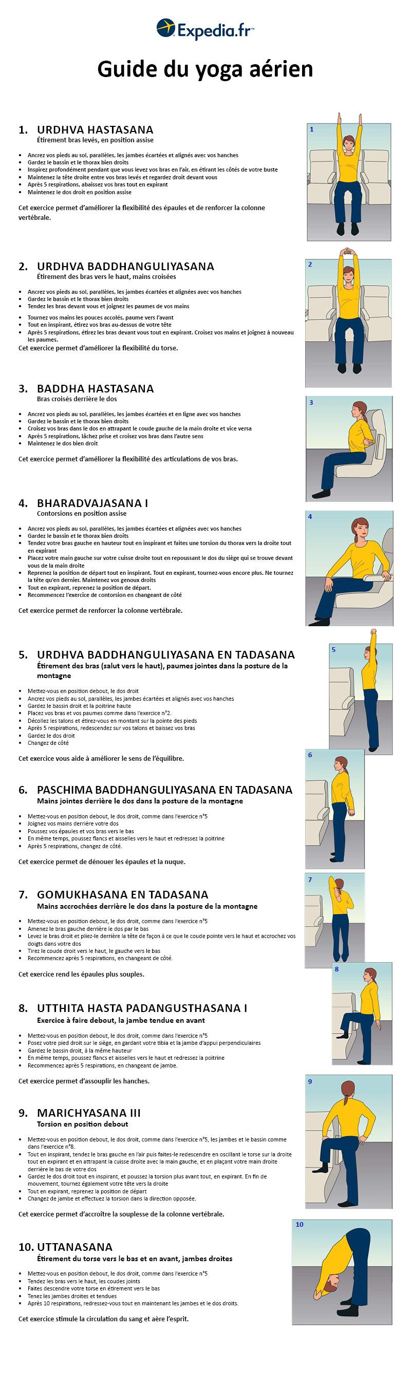 Yoga : 10 postures pour se détendre dans l'avion