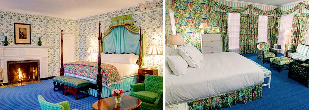 Le papier peint du Greenbrier Hotel