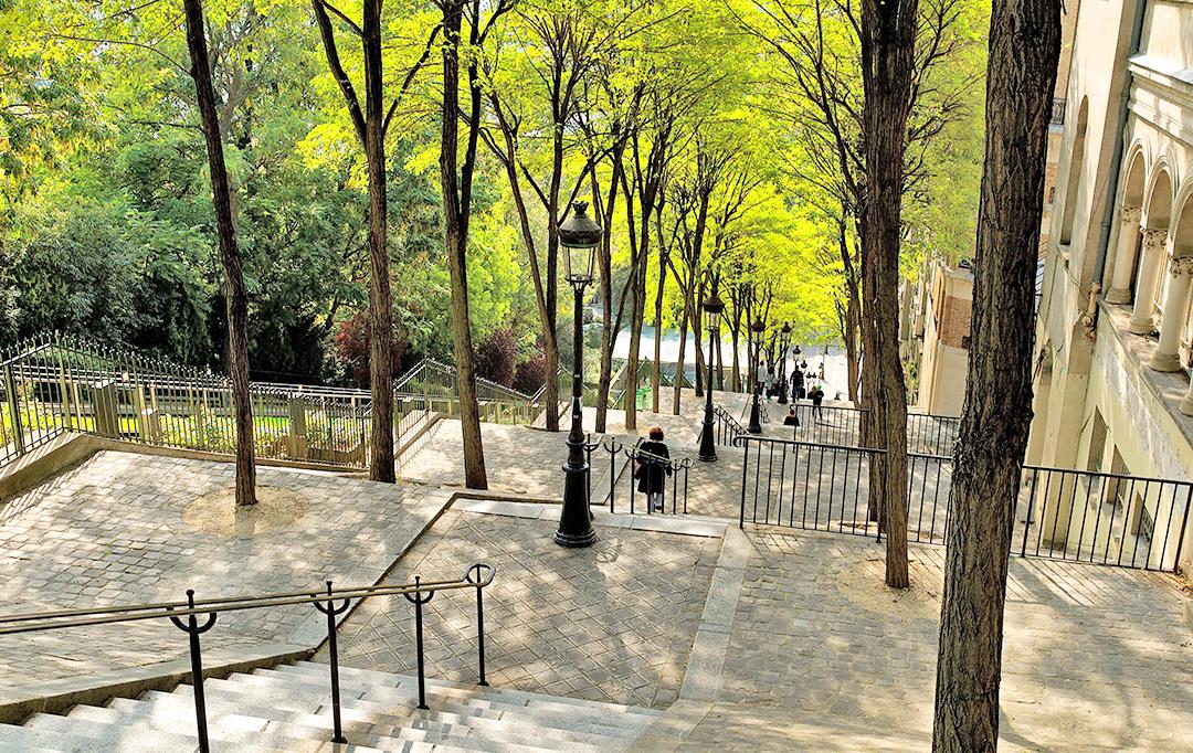 Escalier de la rue Foyatier à Montmartre